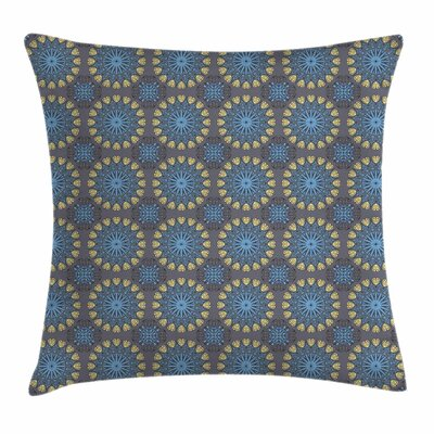 Arabesque Mandala Square Pillow Cover Size: 16 x 16