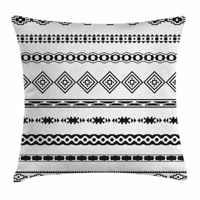 Ethnic Abstract Square Pillow Cover Size: 16 x 16