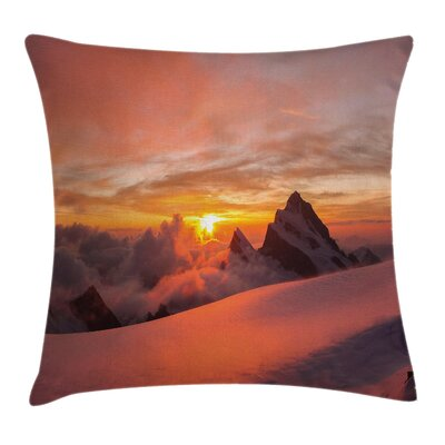 Nature Sunrise Square Pillow Cover Size: 24 x 24