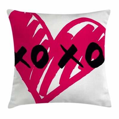 Xo Decor Artistic Calligraphy Square Pillow Cover Size: 18 x 18