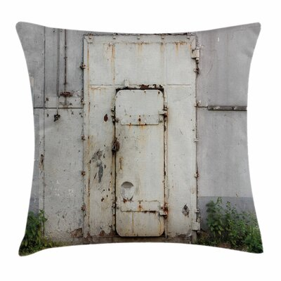 Rusty Iron Square Pillow Cover Size: 16 x 16