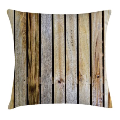 Rustic Country Timber Fence Square Pillow Cover Size: 24 x 24