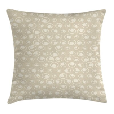 Water Inspired Bubble Forms Square Pillow Cover Size: 18 x 18