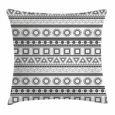 Ethnic Borders Square Pillow Cover Size: 16 x 16