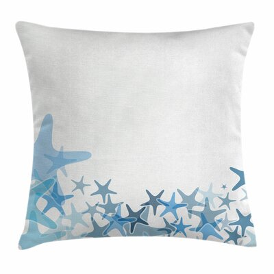 Starfish Decor Sea Animals Square Pillow Cover Size: 18 x 18