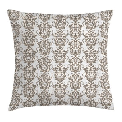 Baroque Lily Damask Old Square Pillow Cover Size: 18 x 18