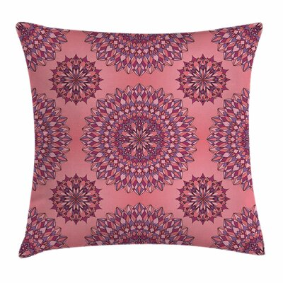 Mandala Ancient Bohemian Square Pillow Cover Size: 18 x 18