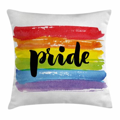 Watercolor Art LGBT Square Pillow Cover Size: 20 x 20