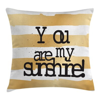 Love Romance Ombre Square Pillow Cover Size: 24 x 24