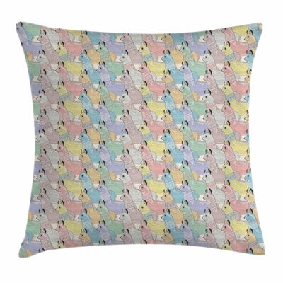 Cute Alpacas Square Pillow Cover Size: 18 x 18