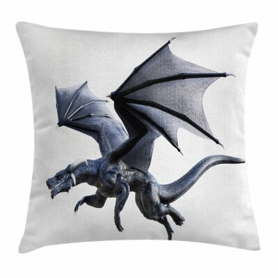 Dragon Fantastic Creature Wings Square Pillow Cover Size: 16 x 16