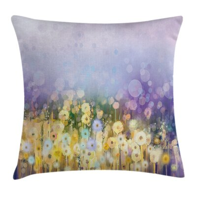 Idyllic Pastoral Flower Square Pillow Cover Size: 16 x 16