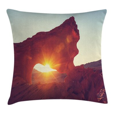 Nature Sunrise American Desert Square Pillow Cover Size: 24 x 24