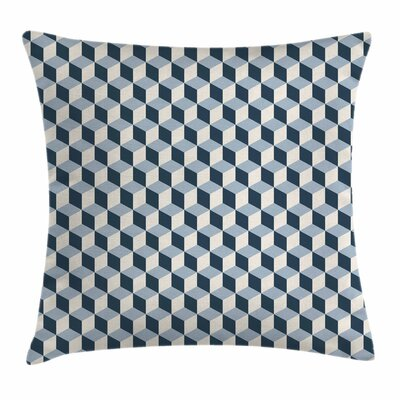 Cubes Squares 3D Style Square Pillow Cover Size: 16 x 16