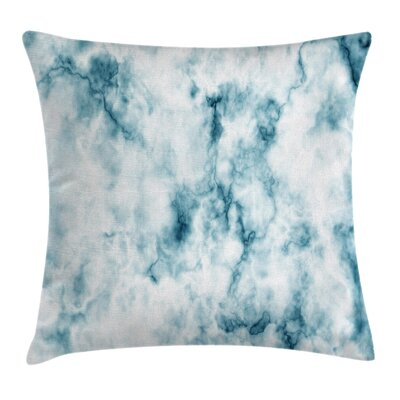 Grunge Marble Effect Square Pillow Cover Size: 24 x 24