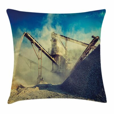 Dust Machine Square Pillow Cover Size: 18 x 18