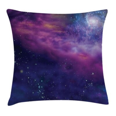 Outer Space Galaxy Nebula Star Square Pillow Cover Size: 16 x 16