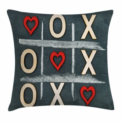 Xo Decor Vintage Chalk Written Square Pillow Cover Size: 18 x 18