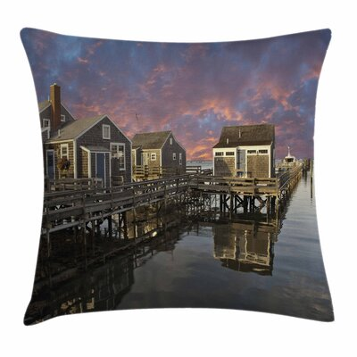 Sunset Nantucket Square Pillow Cover Size: 24 x 24