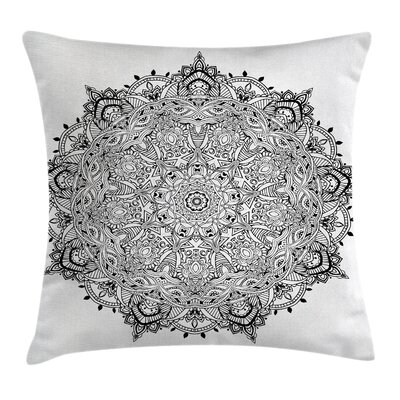 Fabric Mandala Art Square Pillow Cover Size: 18 x 18