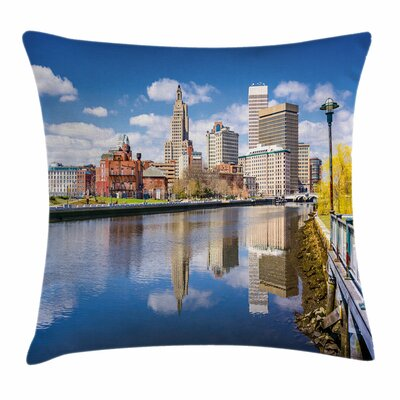 United States Providence River Square Pillow Cover Size: 18 x 18