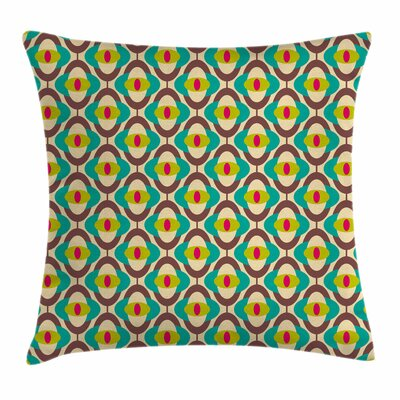 Groovy Bauhaus Art Tile Square Pillow Cover Size: 16 x 16