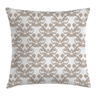 Damask Rococo Flowers Pillow Cover Size: 20 x 20