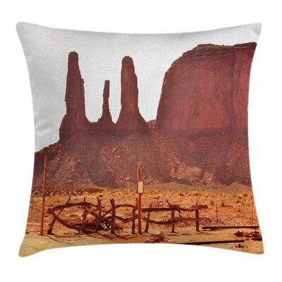 Valley View of Western Square Pillow Cover Size: 16 x 16