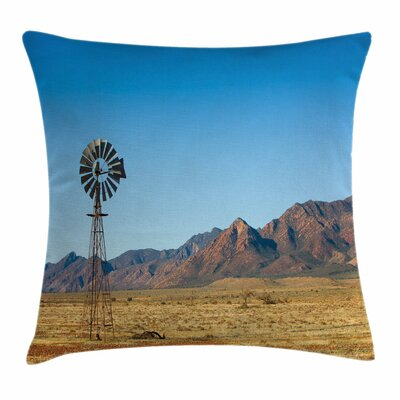 Windmill Decor Flinders Ranges Square Pillow Cover Size: 24 x 24