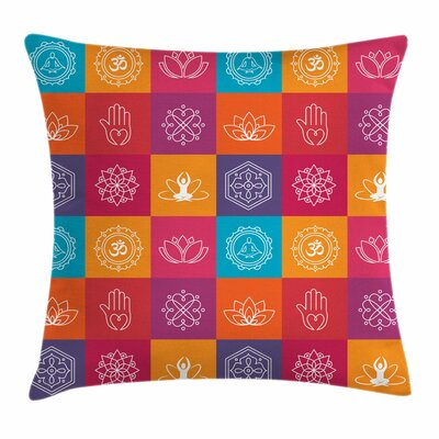Yoga Yoga Icons Harmony Zen Square Pillow Cover Size: 24 x 24