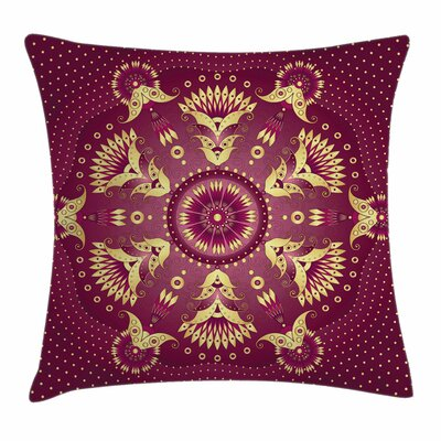 Mandala Eastern Retro Square Pillow Cover Size: 16 x 16
