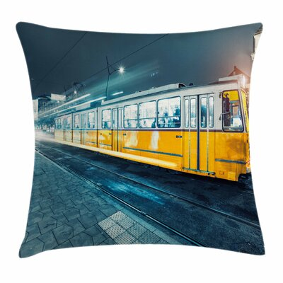 Old Tram City Square Pillow Cover Size: 16 x 16
