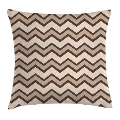 Classic Chevron Zigzags Square Pillow Cover Size: 16 x 16