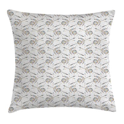Moon Sun Arrow Artwork Square Pillow Cover Size: 18 x 18