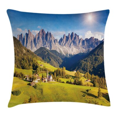 Nature Morning at Countryside Square Pillow Cover Size: 16 x 16