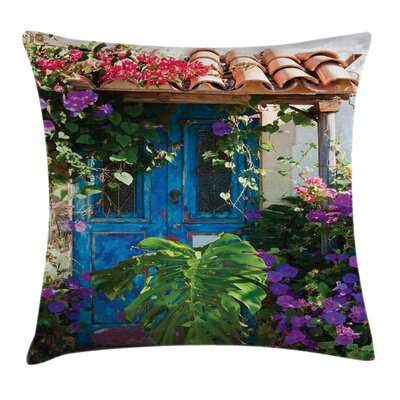 Countryside Flowers Square Pillow Cover Size: 16 x 16