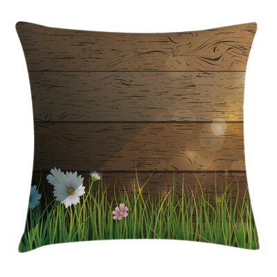Flower Chamomile Field Grass Square Pillow Cover Size: 18 x 18