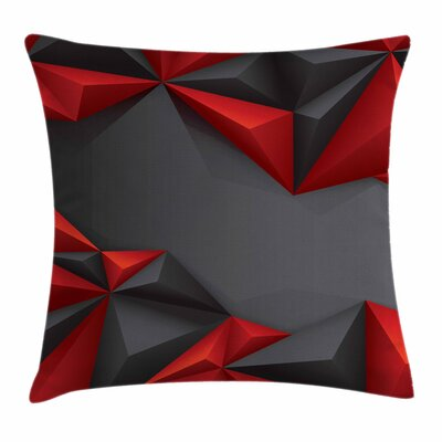 Pyramids Square Pillow Cover Size: 16 x 16