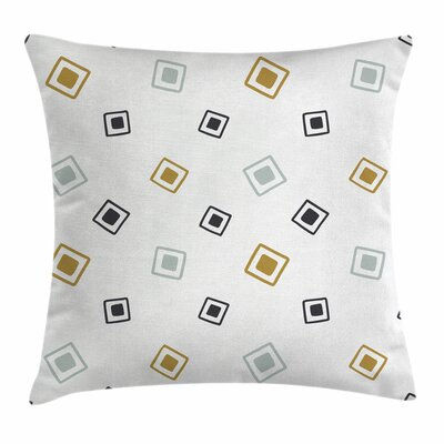 Random Squares Square Pillow Cover Size: 18 x 18
