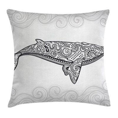 Big Fish Oriental Square Pillow Cover Size: 24 x 24