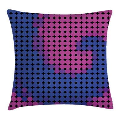 Fabric Modern Artful Decor Square Pillow Cover Size: 16 x 16