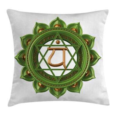 Glimmer Chakra Balance Square Pillow Cover Size: 16 x 16