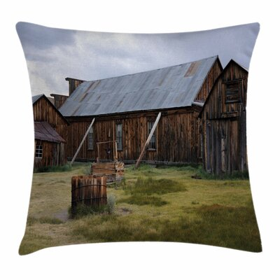 United States California Barn Square Pillow Cover Size: 24 x 24