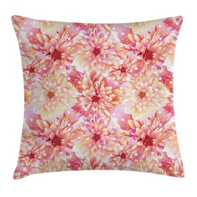 Shining Dahlias Floral Square Pillow Cover Size: 16 x 16