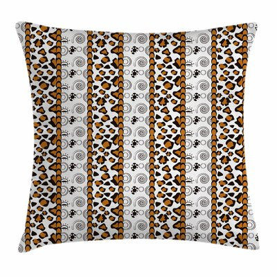 Wildlife Animal Skin Square Pillow Cover Size: 16 x 16
