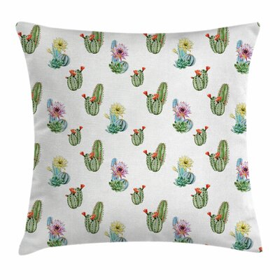 Cactus Hawaiian Bouquet Square Pillow Cover Size: 16 x 16