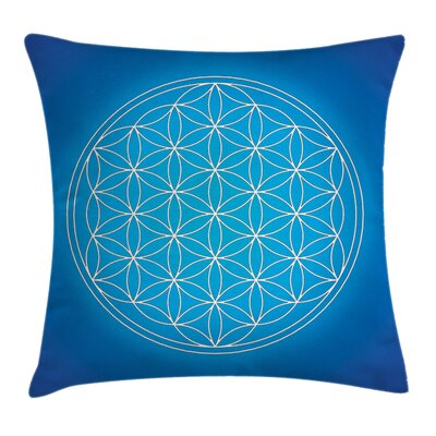 Flower of Life Spiritual Square Pillow Cover Size: 16 x 16