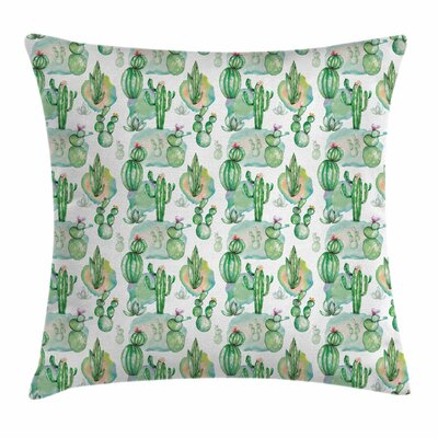 Cactus Mexican Summer Square Pillow Cover Size: 20 x 20