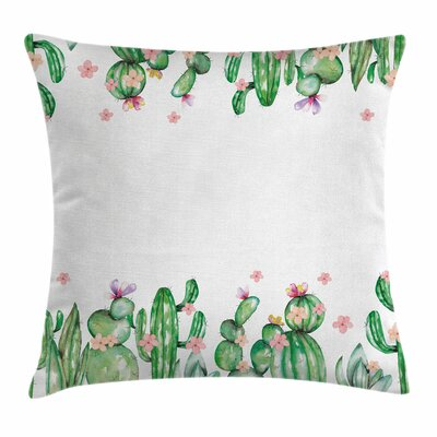 Cactus Tender Vegetation Square Pillow Cover Size: 16 x 16