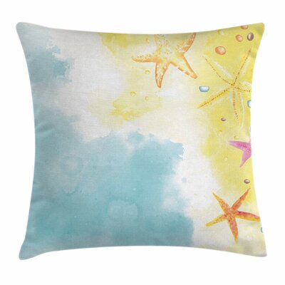 Starfish Decor Hawaiian Holiday Square Pillow Cover Size: 16 x 16
